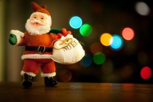 Bokeh Santa
