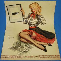 gil_elvgren_pinup_artist_waiting_for_you_1955_calendar_advertising_theme_poster_art_16x20