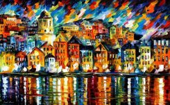 greece___harbor_by_leonid_afremov_by_leonidafremov-d9jupf0