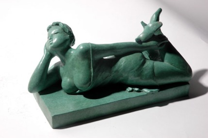 lounging_front_bronze_sculpture