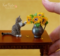 miniature_tabby_cat_sculpture_by_pajutee-d7mc5pd