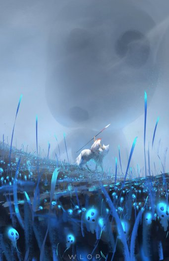 princess_mononoke_by_wlop-d99s2vj