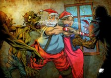 Santa Against Zombies by Victor Negreiro