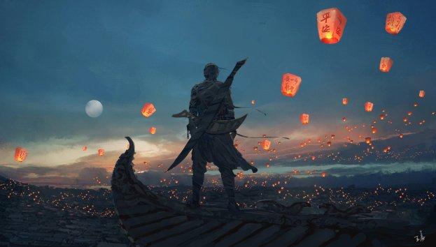 sky_lanterns_by_wlop-d7b5nfg