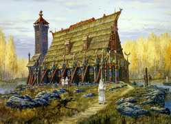 temple-hors-autumn-vsevolod-ivanov-slavic-painting-history-russian-folklore-lake-temple