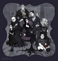 the_addams_family_by_irenhorrors-d9hiyyg