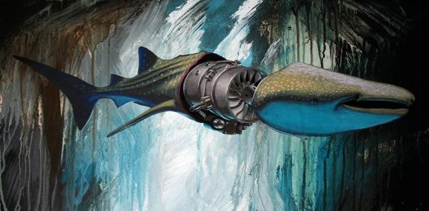 whale-shark-12x24-acrylic-on-panel