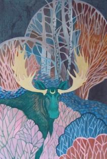 emerald_moose_by_yanadhyana-d91r5po