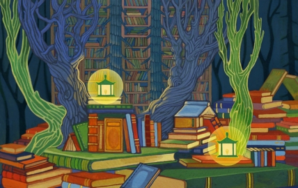 forest_library_by_yanadhyana-d6u6l8r