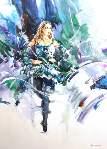 riverdance___watercolor_on_terraskin_by_abstractmusiq-d89do6b