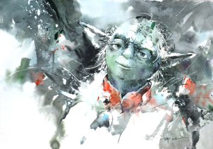 yoda___watercolor_by_abstractmusiq-d8r15tb